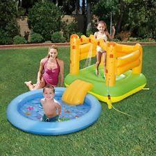 Item 5 Summer Waves Inflatable Sand Castle Play Center With Sprayer Kiddie Pool Slide
