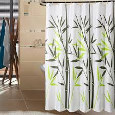 Curtains Bed Bath And Beyond by White Fabric Shower Curtains Eyed Catching Motive White Cabinet