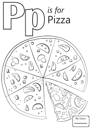 Letter P Coloring Pages Alphabet Words For Parrot Free