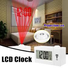 projektor projektion led spiegel wecker digital snooze tisch up licht elektronische große zeit temperatur decke home wand dekor schlafzimmer