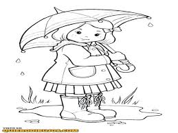 Rainy Day Coloring Pages Spring Kids Picture Printable Sheets For Toddlers