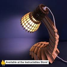 Laser Cut Lamp Kit by Cardboard Desk Lamp 9 Steps With Pictures