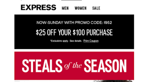 All Express Coupon Code - August 2018 Deals Contuing Education Express Promo Code Nla Tenant Check Express Park Ladelphia Coupon Discount Light Bulbs Vacation Or Group Mens Coupons Coupon Codes Blog Happy 4th Of July Get 10 At Koffee Use How To Apply A Discount Access Your Order 15 Off Online Via Panda Codes Promo Code 50 Off 150 Jeans For Women And Men Cannada Review 20 Off 2019