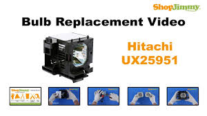 hitachi ux25951 bulb replacement guide for dlp tv