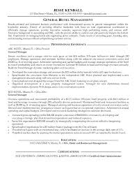 General Manager Resume Hotel Duty Cv Template