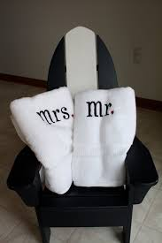 Sunflower Bath Towel Set by Mr And Mrs Embroidered Towel Set Monogramming Ideas Weddings