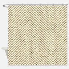 Gold And White Chevron Curtains by Gold Chevron Shower Curtains Cafepress