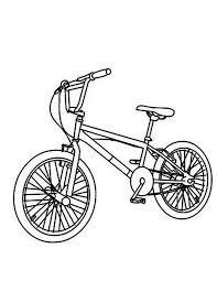 Bicycle Mountain Colouring Page
