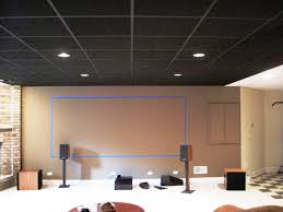 Drop Ceiling For Basement Bathroom by Black Ceiling Tiles With Tan Walls Inside The Blue Painters