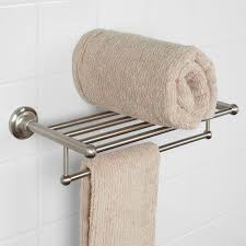 Bathroom Towel Bar With Shelf by Holliston Double Towel Rack Bathroom