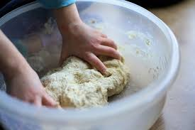 Dough Knead Bake Food Cake Eat Delicious Flour