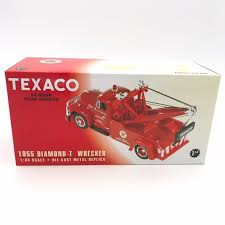 Amazon.com: 1955 Diamond T Wrecker Tow Truck Texaco Die Cast Metal ...