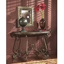 amazon com dark brown sofa table signature design by ashley