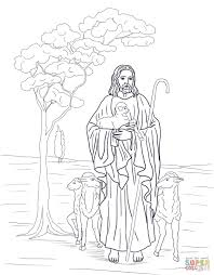 Click The Jesus Is Our Shepherd Coloring Pages