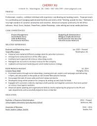 Event Resume Sample