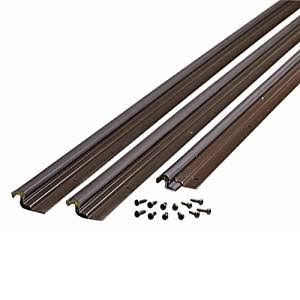 "M d Building 87783 Compression Weather Stripping - Bronze, Aluminium, 36""x 84"""