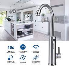 Pudin Armatur Mit Integriertem Durchlauferhitzer Pudin Edelstahl Elektrische Wasserhahn Ledtemperaturanzeige Küchenarmatur