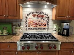 Mosaic Tile Backsplash Kitchen Ideas Decor Vineyard Idea With Frame Metal Accents Gelin To