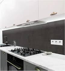 mymaxxi selbstklebende küchenrückwand folie ohne bohren aufkleber motiv steinwand schwarz 60cm hoch adhesive kitchen wall design wandtattoo