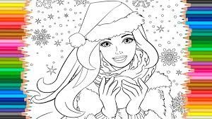 Barbie Princess Coloring Pages L Book Video For Children Learn Colors Kids Coloriage