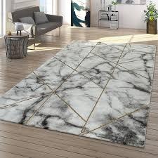 teppich grau gold wohnzimmer marmor design linien muster 3 d