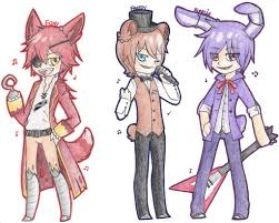 DeviantArt More Collections Like FNAF Gijinkas Set 1 Foxy