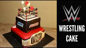 Wwe Raw Cake Decorations by How To Make A Wwe Wrestling Cake Youtube