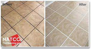 cleaning tile grout floor before and after cleaning ceramic tile