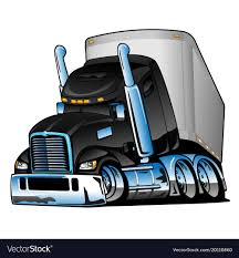 100 Semi Truck Pictures Truck With Trailer Cartoon Royalty Free Vector Image