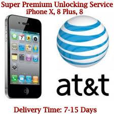 iPhone X 8 8 Plus AT&T Unlock Service