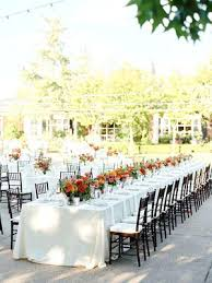 Decorate Wedding Cake Table Fall Outdoor With Vibrant Pink Orange In