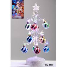 Light Up 10 Glass Christmas Tree LS Arts Inc