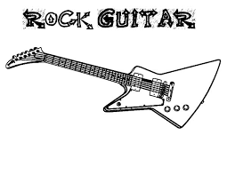 Rock Guitar Colouring Page