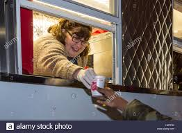 Detroit, Michigan - A Woman In A Salvation Army Truck Gives Out Hot ...