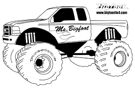 Monster Trucks Coloring Pages For Boys Download Truck Drawing For ...