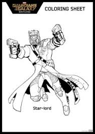 Free Guardian Of The Galaxy Coloring Page Star Lord
