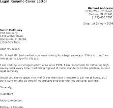 Cover Letter Legal Secretary How To Write A Sample