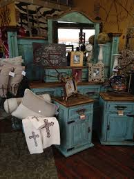 Beautiful Rustic Turquoise Bedroom Suite