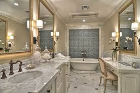 traditional master bathroom with wall sconce by detailsadesignfirm