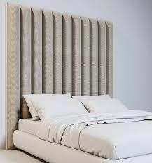 casa padrino luxus samt bett kopfteil beige 190 x 14 x h 240 cm schlafzimmer möbel hotel möbel luxus kollektion