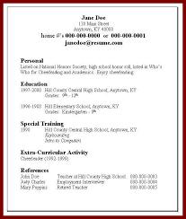 Resume For College Ojt