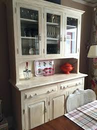 Distressed China Cabinet Dining Room Traditional With Wood Flooring Cabinets White Painted