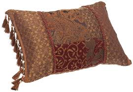 Decorative Couch Pillows Amazon by Amazon Com Croscill Galleria Boudoir Pillow 20 Inch By 15 Inch
