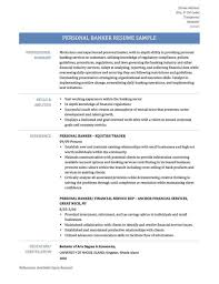 Universal Banker Resume Examples