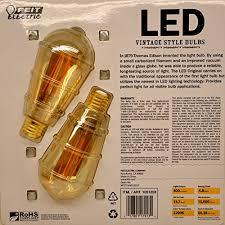 feit led vintage style bulbs 4 8watt 40watt replacement 2 pack
