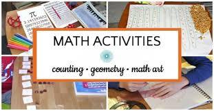 List Of Math Activities For Kids