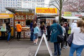 PORTLAND, OR - FEBRUARY 27, 2016: People Waiting In Line To Order ... Portland Essentials 10 Mustvisit Food Carts Serious Eats Wieden Kennedy Has Been Selling Donald Trumps Bs Out Of A 2013 In Review Churros Locos Trucks Roaming Hunger Plans Filed To Build Hotel On Famous Dtown Cart Pod The Marshmallow Me Company Aims To Tame Truck Trash Wwno 2015 Festival Competion Winners Whole Bowl Food Truck Vanfoodiescom Dump City Council Votes Ease Rules Flavour Spot Wiki Fandom Powered By Wikia