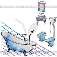 luxuriöse klassische möbel reich an badezimmer vektor