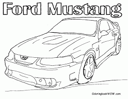 Muscle Coloring Book Car Pages Home