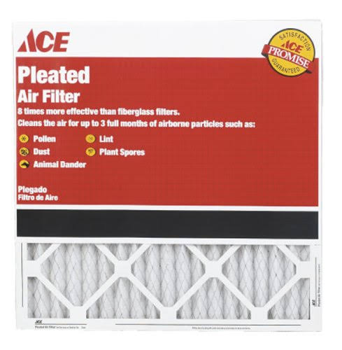 Ace Pleated Furnace Air Filter - 14in x 25in x 1in